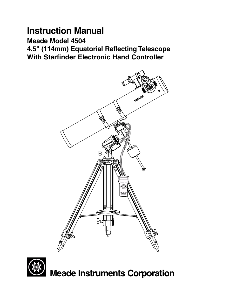 meade instruments 4504 user manual 48 pages rh manualsdir com Autostar Meade DS 114 Manual Meade DS 2114Ats Manual
