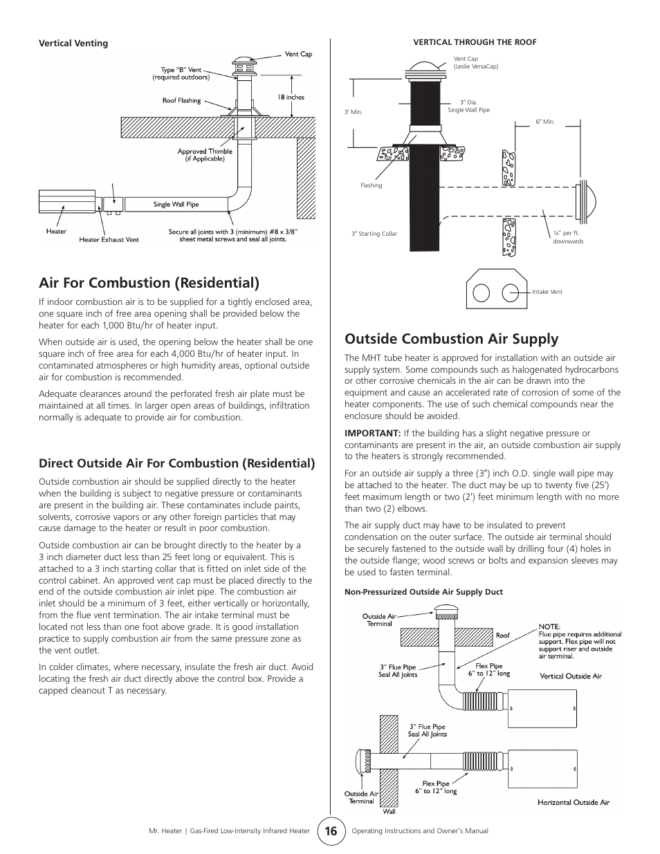 outside combustion air supply air for combustion residential rh manualsdir com