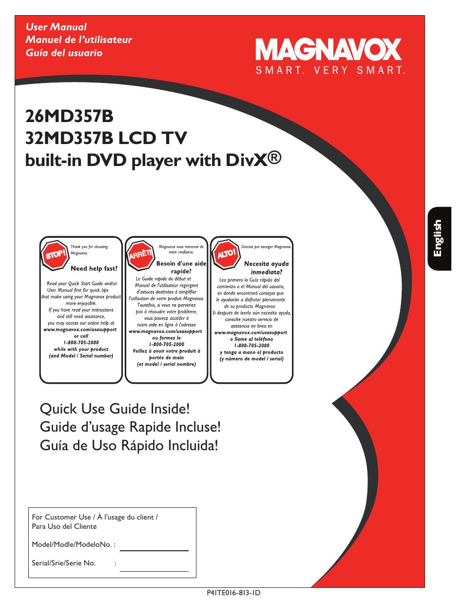 philips magnavox 26md357b user manual 56 pages rh manualsdir com Magnavox Flat Screen TV Manual Magnavox LCD TV Manual