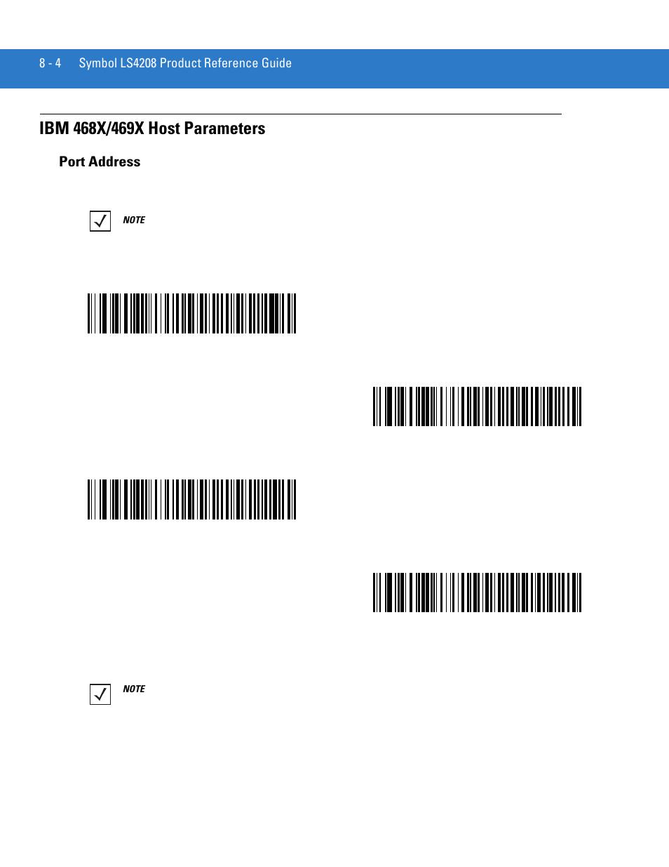 ibm 468x 469x host parameters port address ibm 468x 469x host rh manualsdir com LS4208 User Manual LS4208 Sr20007zzr