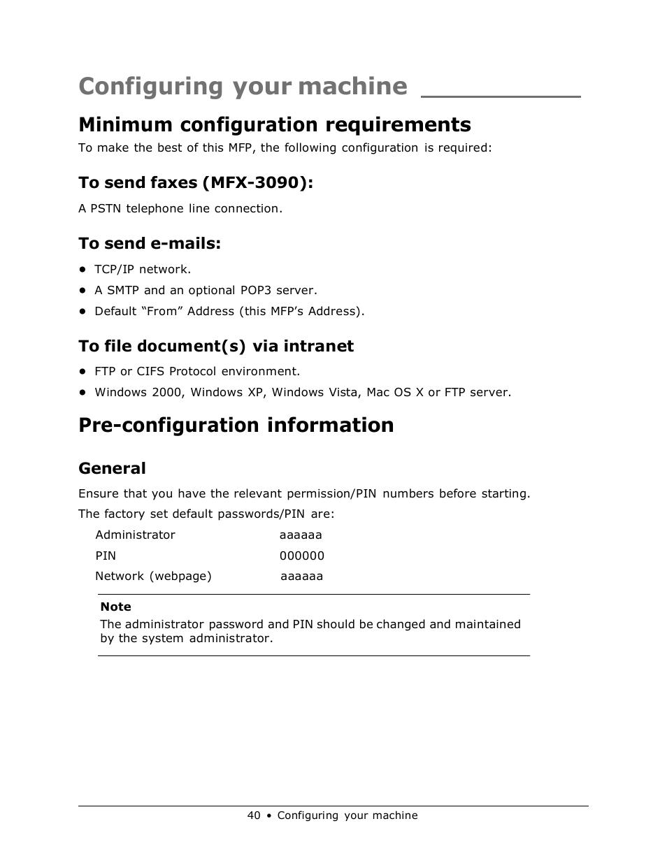 windows 2000 server default administrator password