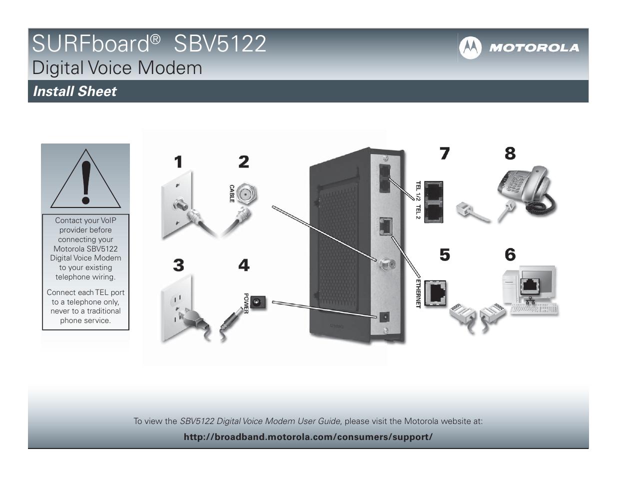 Motorola Surfboard Sbv5122 User Manual Manual Guide