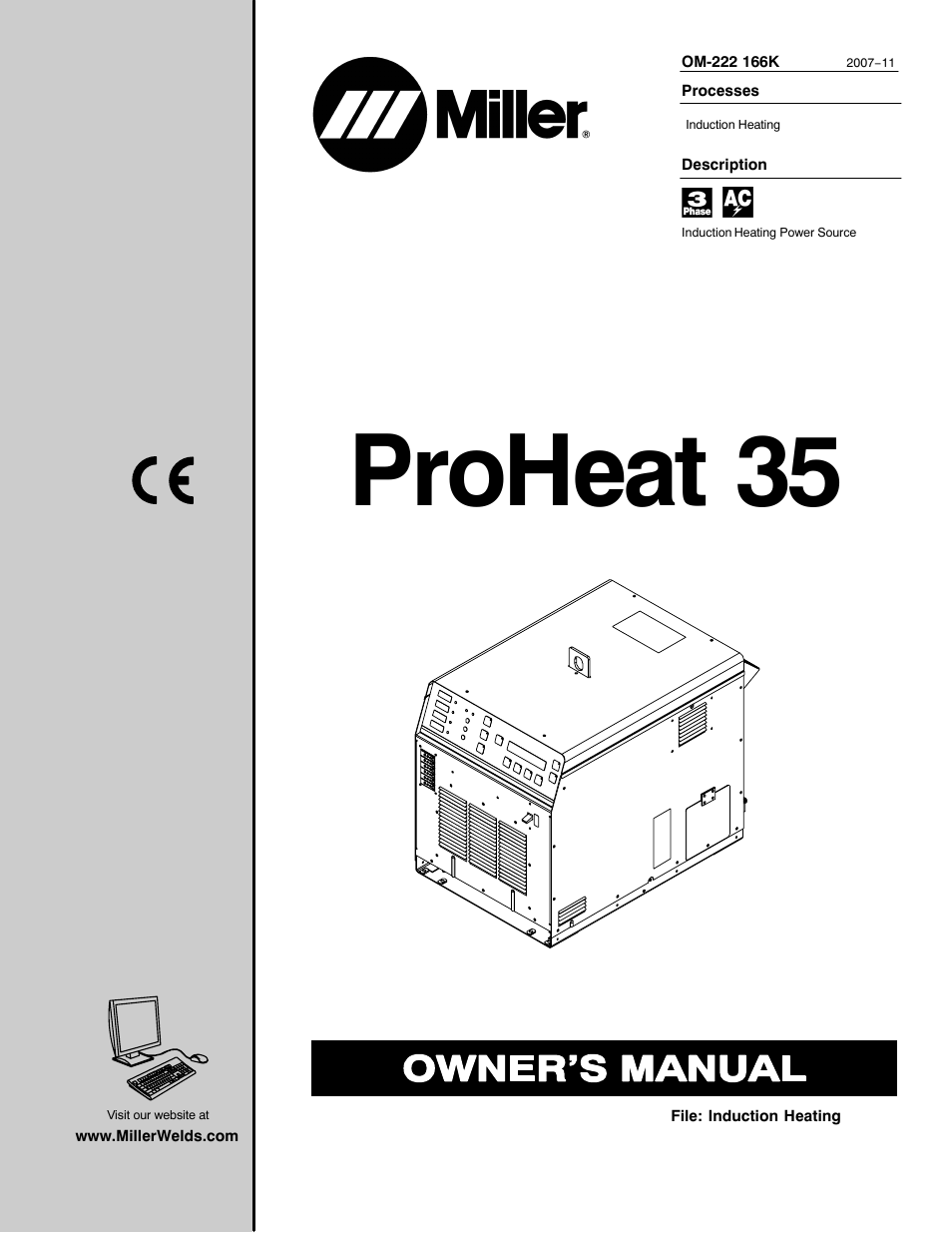 Miller Electric Proheat 35 User Manual 72 Pages Induction Heating Diagram