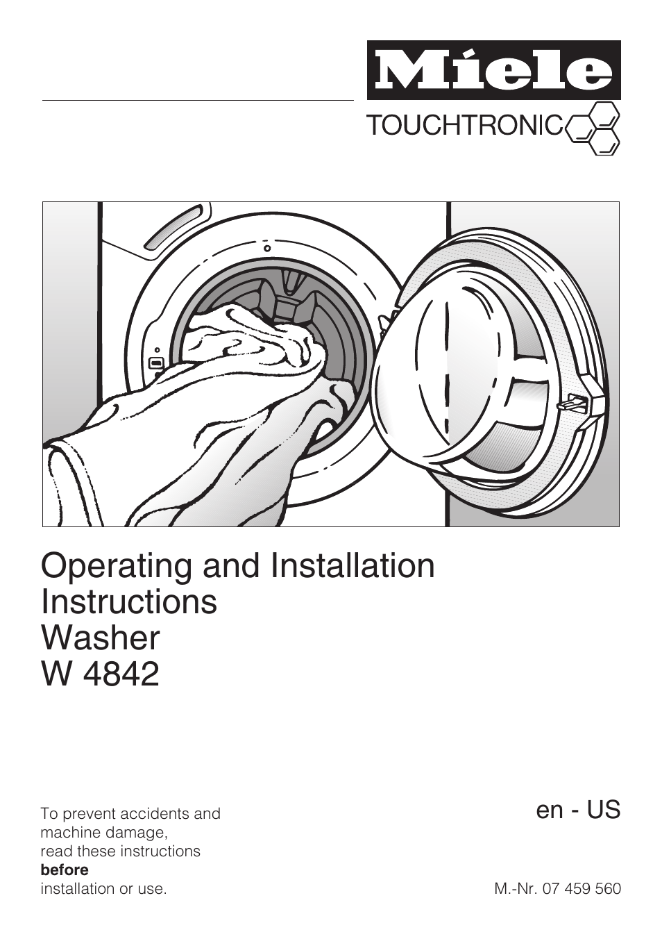 Miele Touchtronic W 4842 User Manual