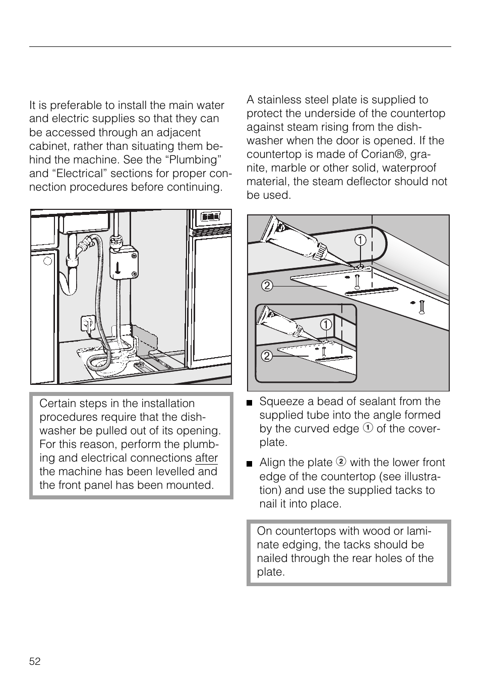 installing the dishwasher under the countertop 52 installing the rh manualsdir com miele dishwasher g1220sc service manual miele dishwasher g1220sc service manual