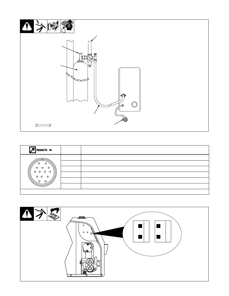 4 Connecting Shielding Gas And 14 Pin Plug 5 Dc Switch Wiring Diagram Prug Information 6 Setting Optional Wire Speed Meter Range Miller Electric S 22p12 User Manual Page 16 28