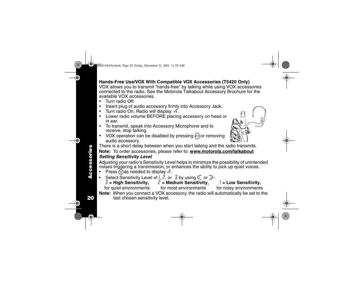 vox accessories motorola t5410 user manual page 24 40 rh manualsdir com User Manual motorola t6510 manual pdf
