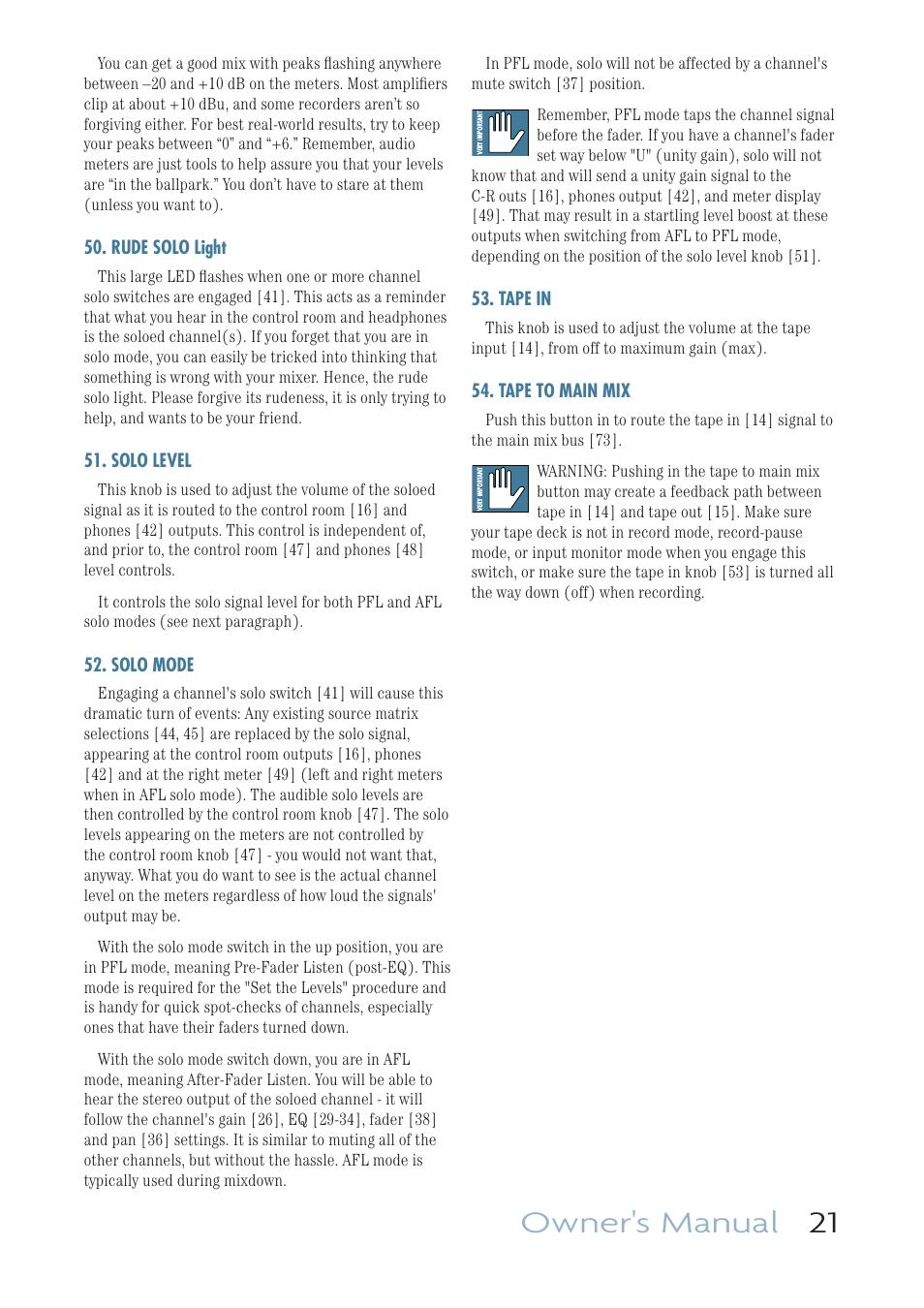 rude solo light solo level solo mode mackie onyx 1640i user rh manualsdir com User Manual User Manual PDF