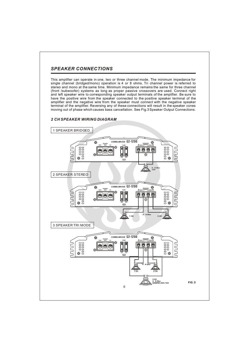 Вк 10, Speaker connections, 2 ch speaker wiring diagram | Interfire ...