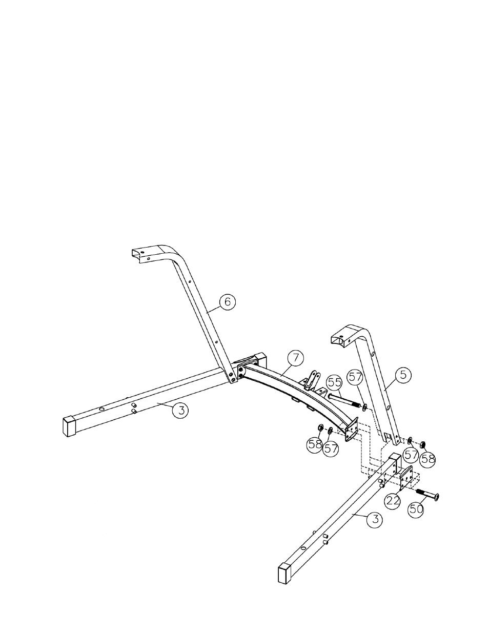 Smith Machine Assembly Instruction  Diagram 1