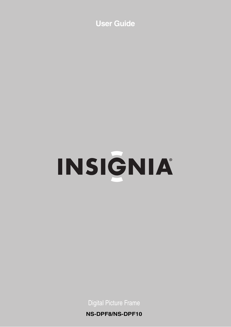Insignia NS-DPF8 User Manual   14 pages   Also for: NS-DPF10A