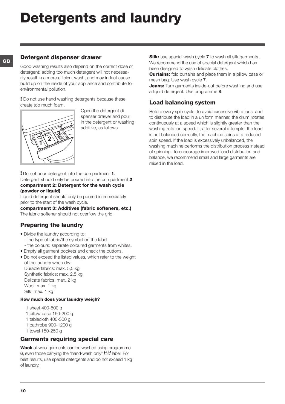 detergents and laundry indesit iwb 5113 user manual page 10 16 rh manualsdir com