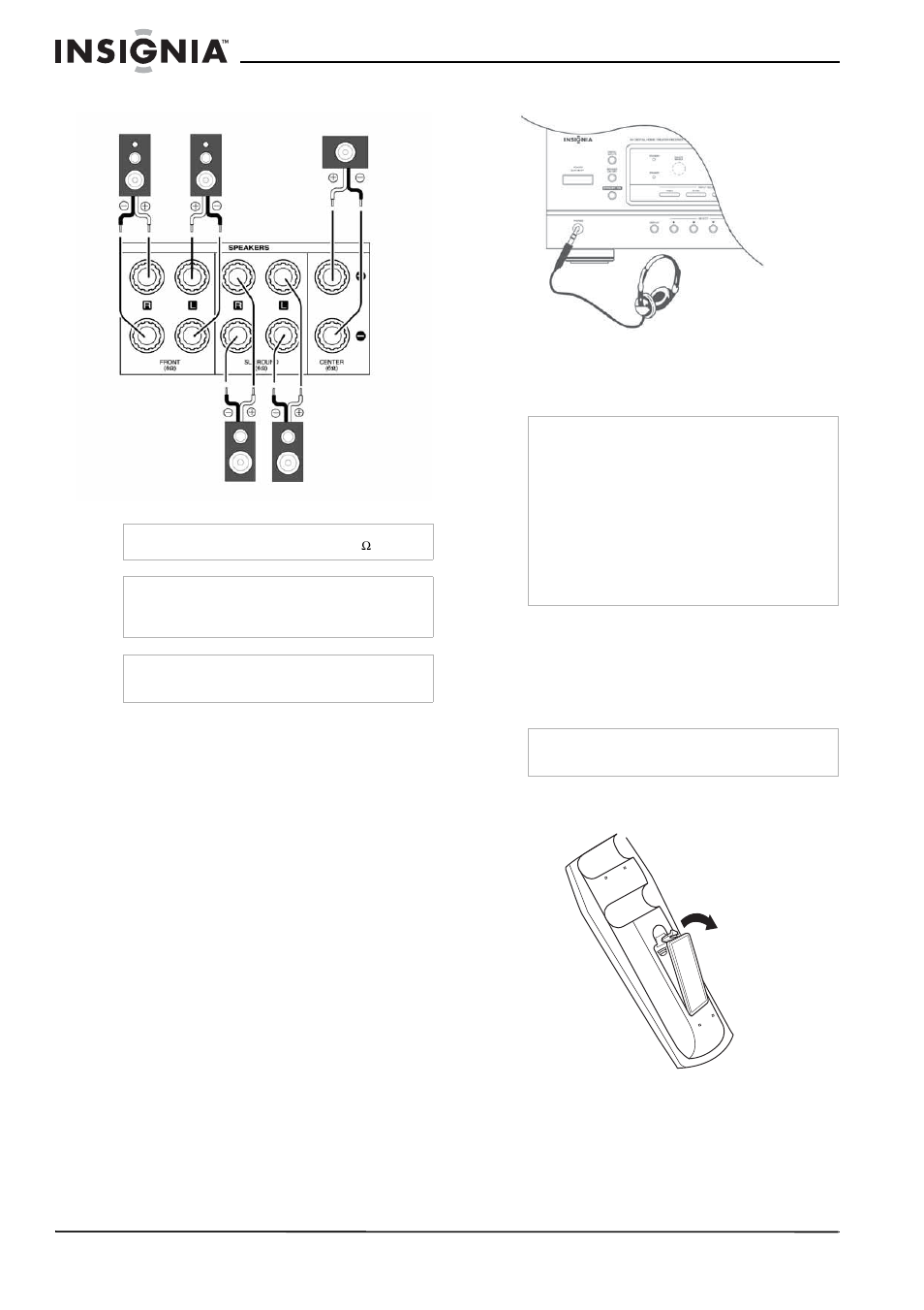 Connecting speakers connecting headphones connecting the power connecting speakers connecting headphones connecting the power insignia ns r5100 user manual page 10 76 sciox Gallery