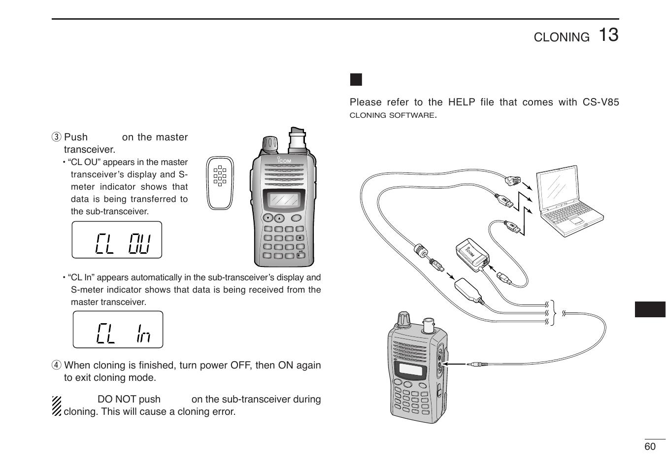 cloning using a pc cloning icom ic v85 t user manual page 73 80 rh manualsdir com icom ic-v85 manual pdf icom ic-v85 user manual