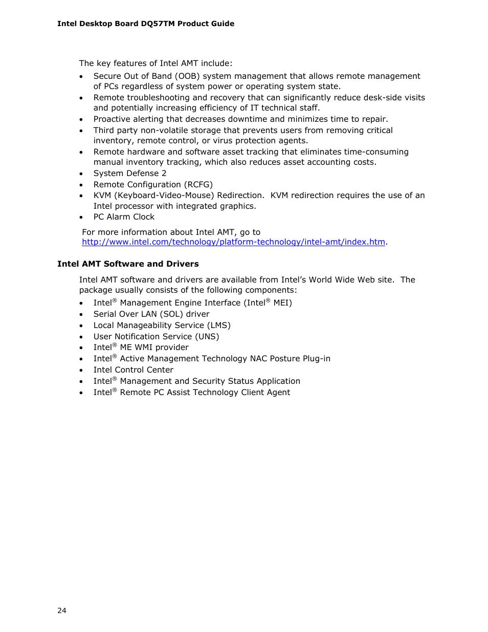 Intel DQ57TM User Manual | Page 24 / 88