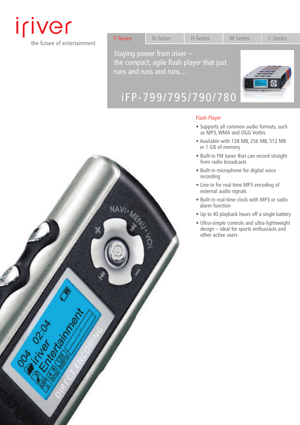 iriver ifp 780 user manual 2 pages also for ifp 799 ifp 795 rh manualsdir com Iriver Ifp 890 Install Disc Iriver Ifp 790