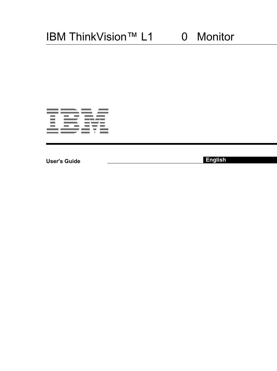 ibm thinkvision monitor l150 user manual 35 pages also for rh manualsdir com ibm thinkvision monitor service manual 2005 IBM ThinkVision Monitor