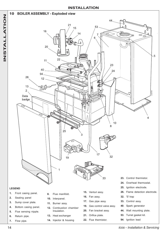 boiler installation  ideal boiler installation manual
