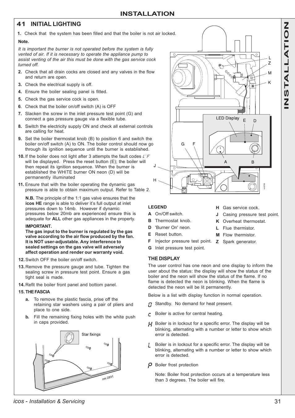 Boiler manuals: ideal icos system he15.