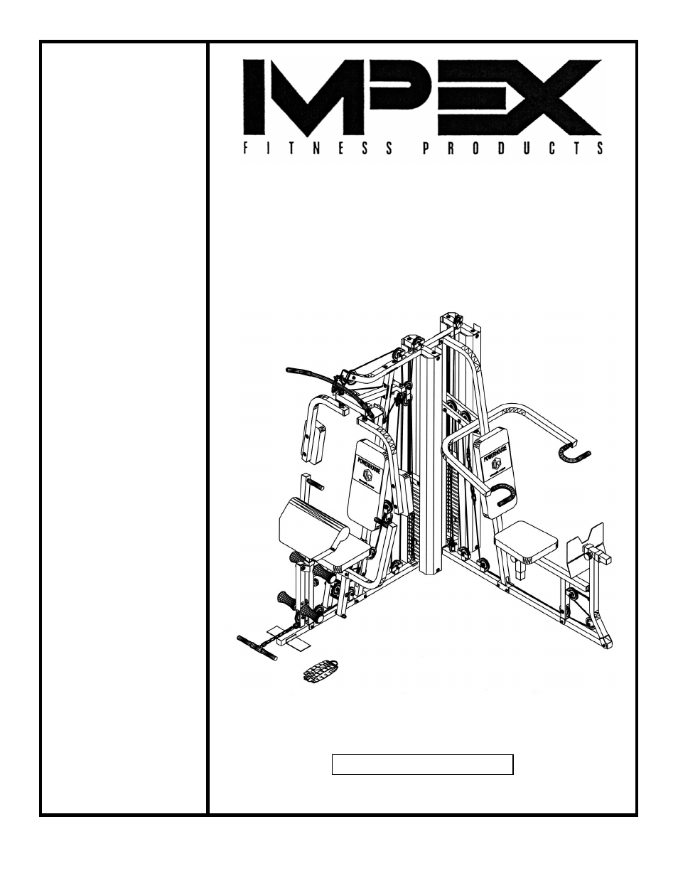 impex powerhouse home gym manual