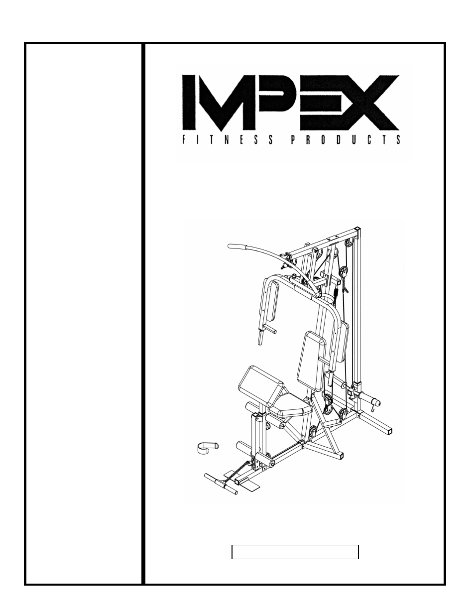 impex powerhouse weight bench  impex fitness products