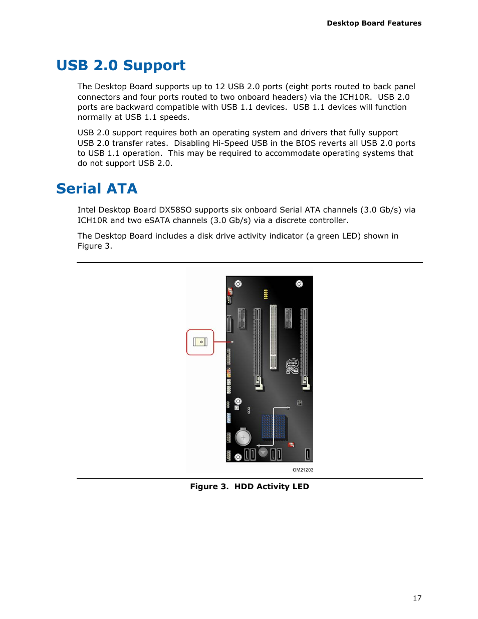 Usb 20 Support Serial Ata Intel Dx58so User Manual Page 17 86 1 Transfer Rate
