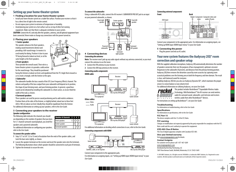 setting up your home theater system insignia ns r5101ahd a user rh manualsdir com insignia tv user guide insignia tv user manual for ns-39dr510na17