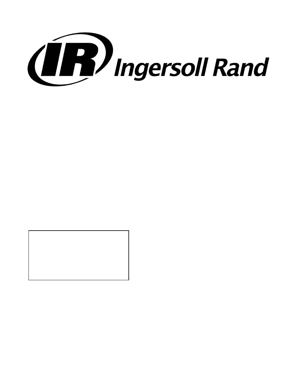 ingersoll rand 100 200 hp 75 160 kw user manual 93 pages also rh manualsdir com Rand Ingersoll R75i-W1235 ingersoll rand user manual for impact wrench