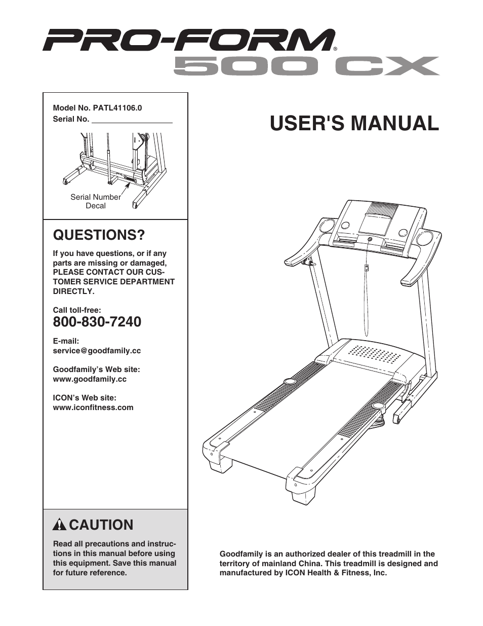 Inter Tel Pro Form 500 Cx Patl411060 User Manual 36 Pages Proform Treadmill Wiring Diagram