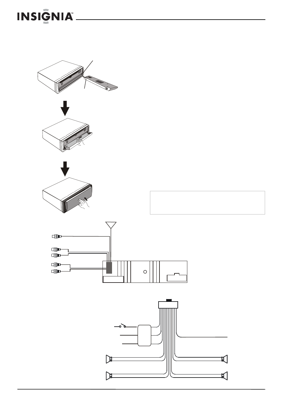 Installing The Front Panel Wiring Your Car Cd Deck Insignia Ns Frontpanelwiring C4113 User Manual Page 8 16
