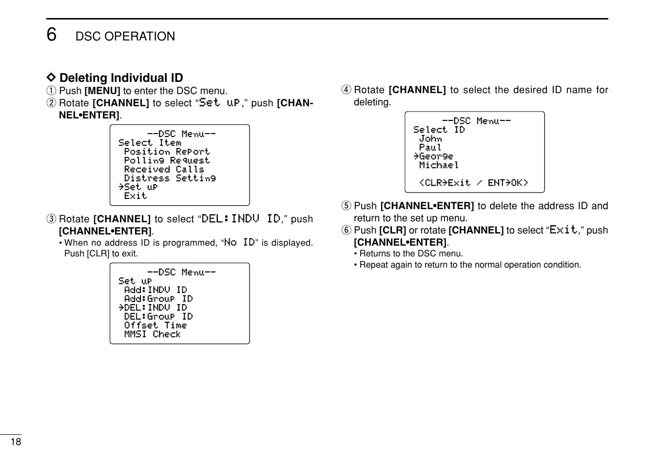 dsc operation d d deleting individual id icom ic m505 user manual rh manualsdir com icom m506 manual icom vhf marine ic-m505 manual