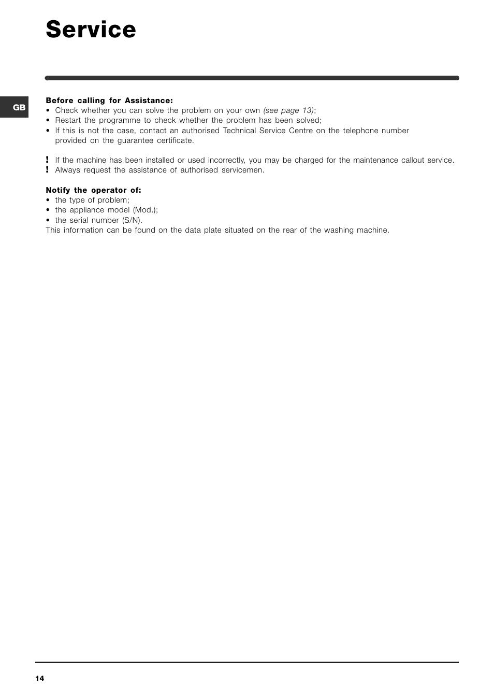 Indesit WIA 121 User Manual