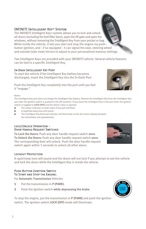 Infiniti Intelligent Key System Ex35 User Manual Page 4 48