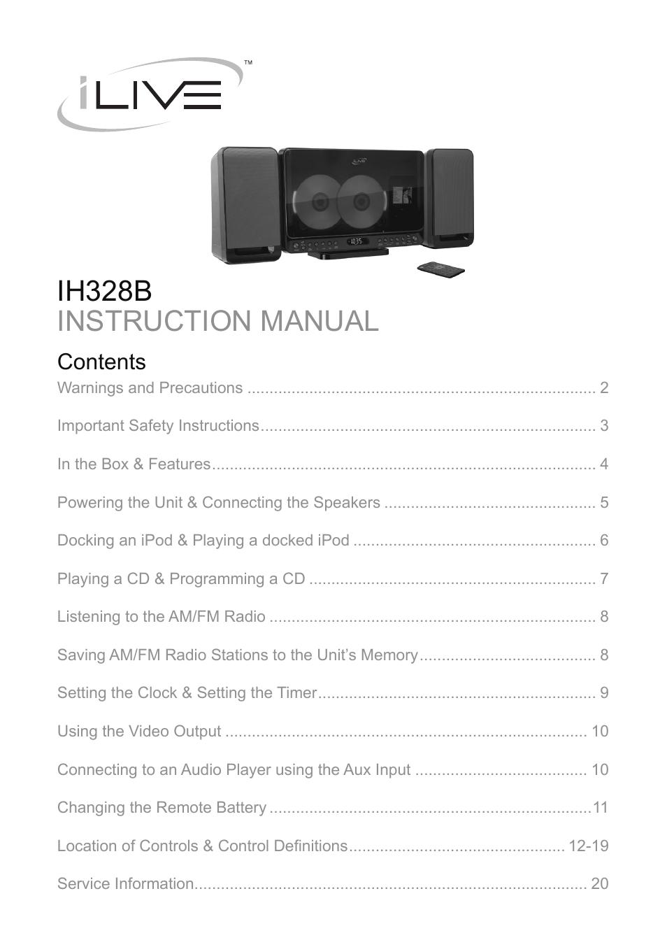 ilive user manual free owners manual u2022 rh wordworksbysea com Instruction Manual Example Instruction Manual Example