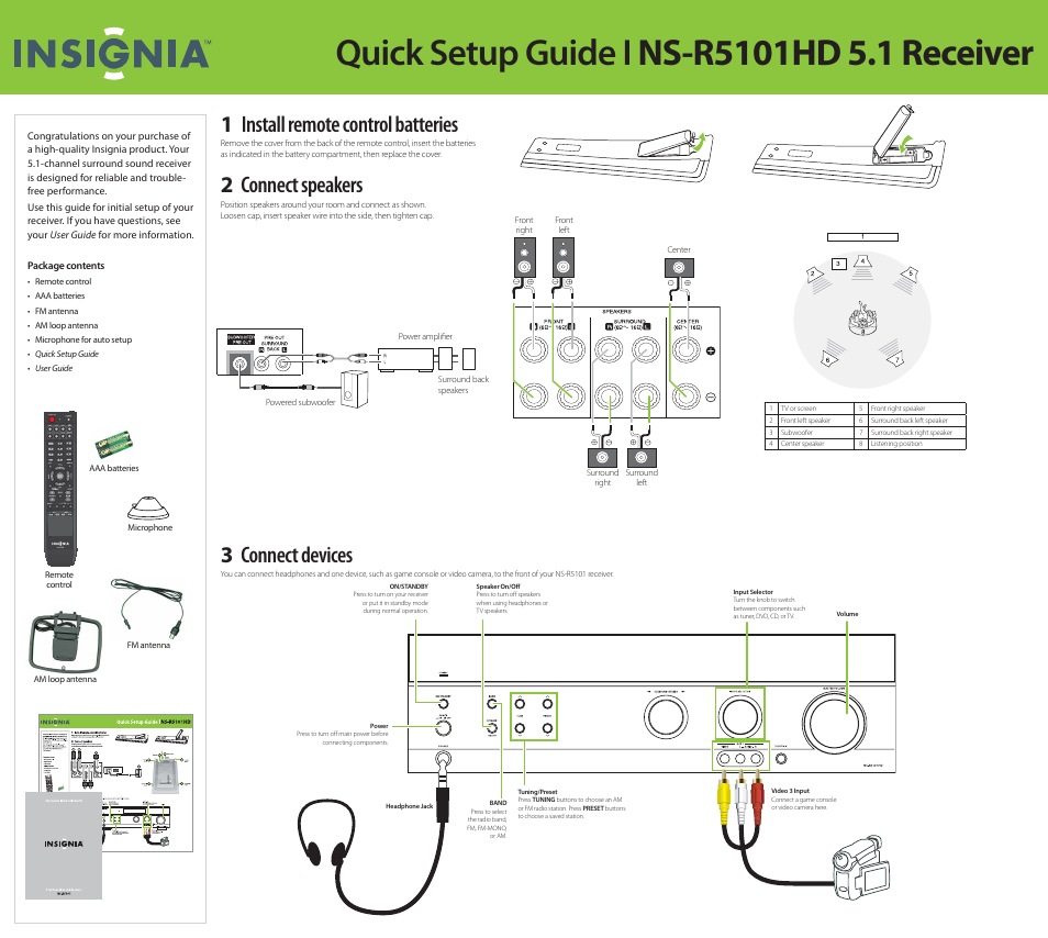 Insignia ns r5101hd user manual 4 pages sciox Gallery