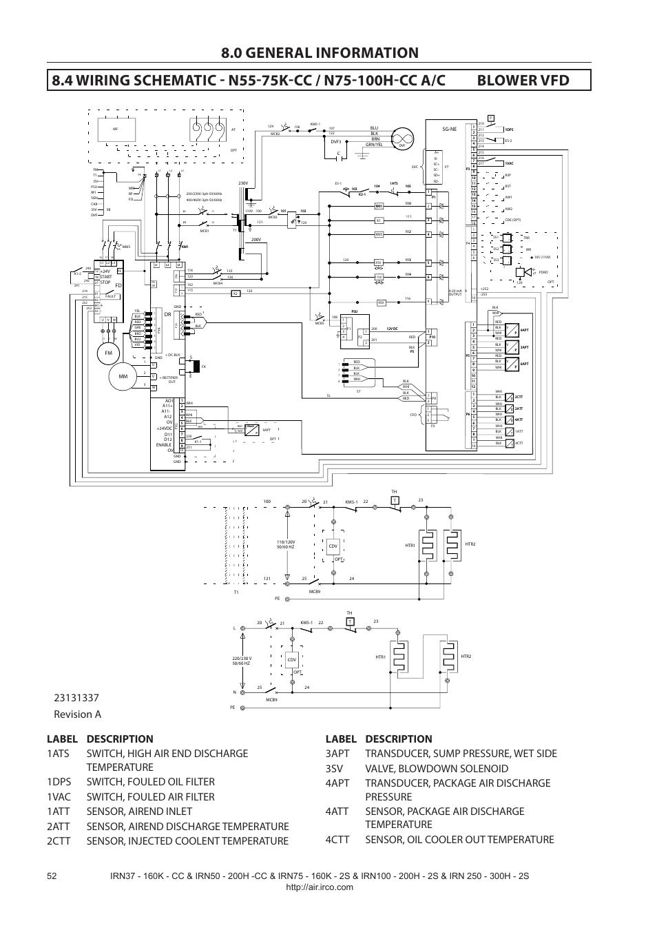 ingersoll rand nirvana irn75 160k 2s user manual page 54. Black Bedroom Furniture Sets. Home Design Ideas