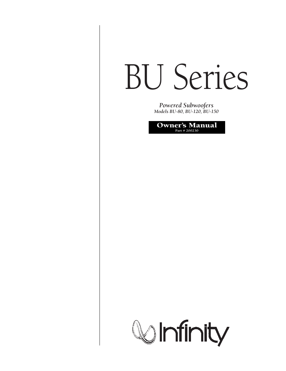 infinity bu 80 user manual 16 pages also for bu 150 bu 120 rh manualsdir com  infinity bu 120 service manual