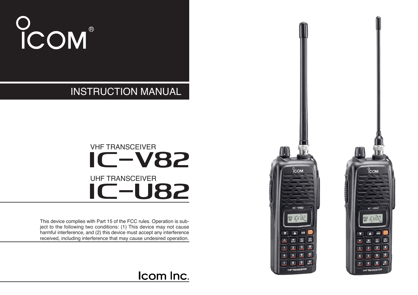 icom ic u82 user manual 96 pages also for ic v82 rh manualsdir com Icom Marine VHF icom ic-m422 vhf marine radio manual