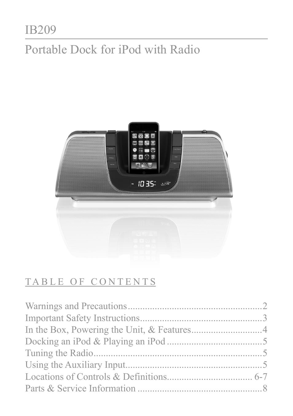 ilive ib209 user manual 8 pages rh manualsdir com ilive radio instruction manual ilive under cabinet radio manual