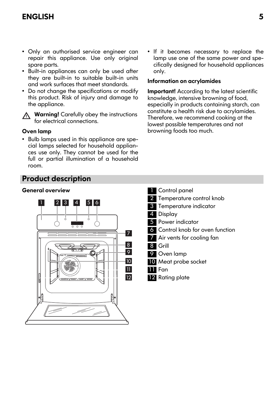product description english 5 ikea framtid ov9 user manual page rh manualsdir com IKEA Cabinet Hinge Adjustment Furniture Instruction Manuals