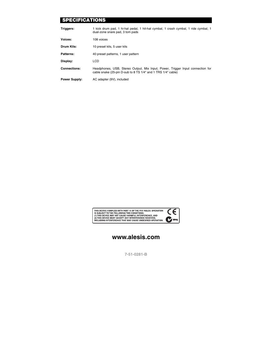 specifications alesis dm6 user manual page 12 12 original mode rh manualsdir com User Manual Icon Manuals in PDF