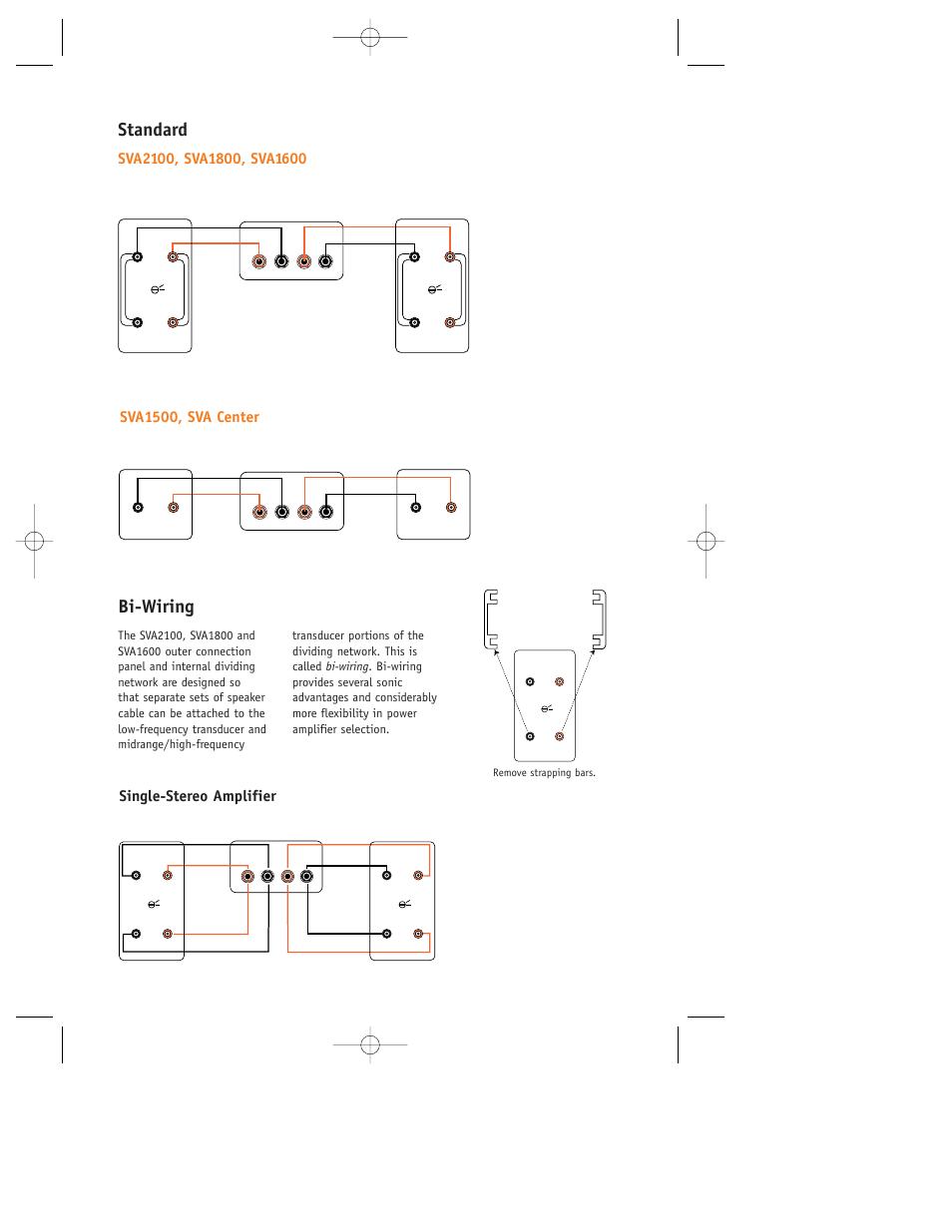 Standard Bi Wiring Sva1500 Sva Center Jbl User Speakers Diagram Manual Page 4 8