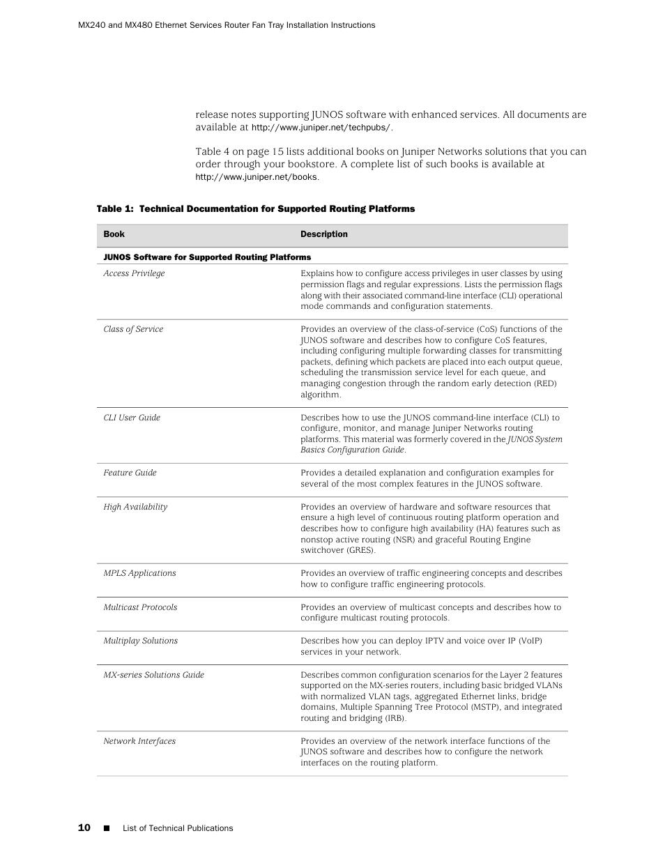 Juniper Networks Juniper MX-series MX480 User Manual | Page