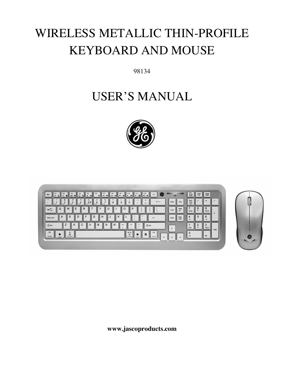 ge 98134 ge thin profile keyboard and mouse user manual 7 pages. Black Bedroom Furniture Sets. Home Design Ideas