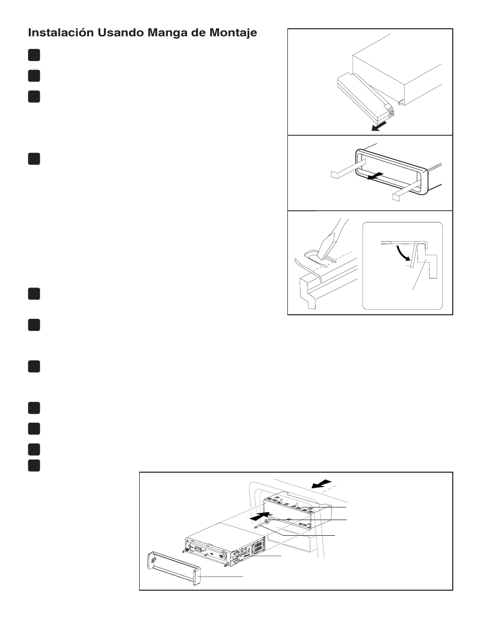 instalaci n usando manga de montaje jensen vm8113 user manual rh manualsdir com User Training Online User Guide