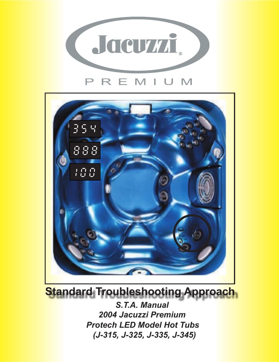 jacuzzi j315 user manual 62 pages also for j 345 rh manualsdir com Jacuzzi J 300 Series Jacuzzi J 315 Parts