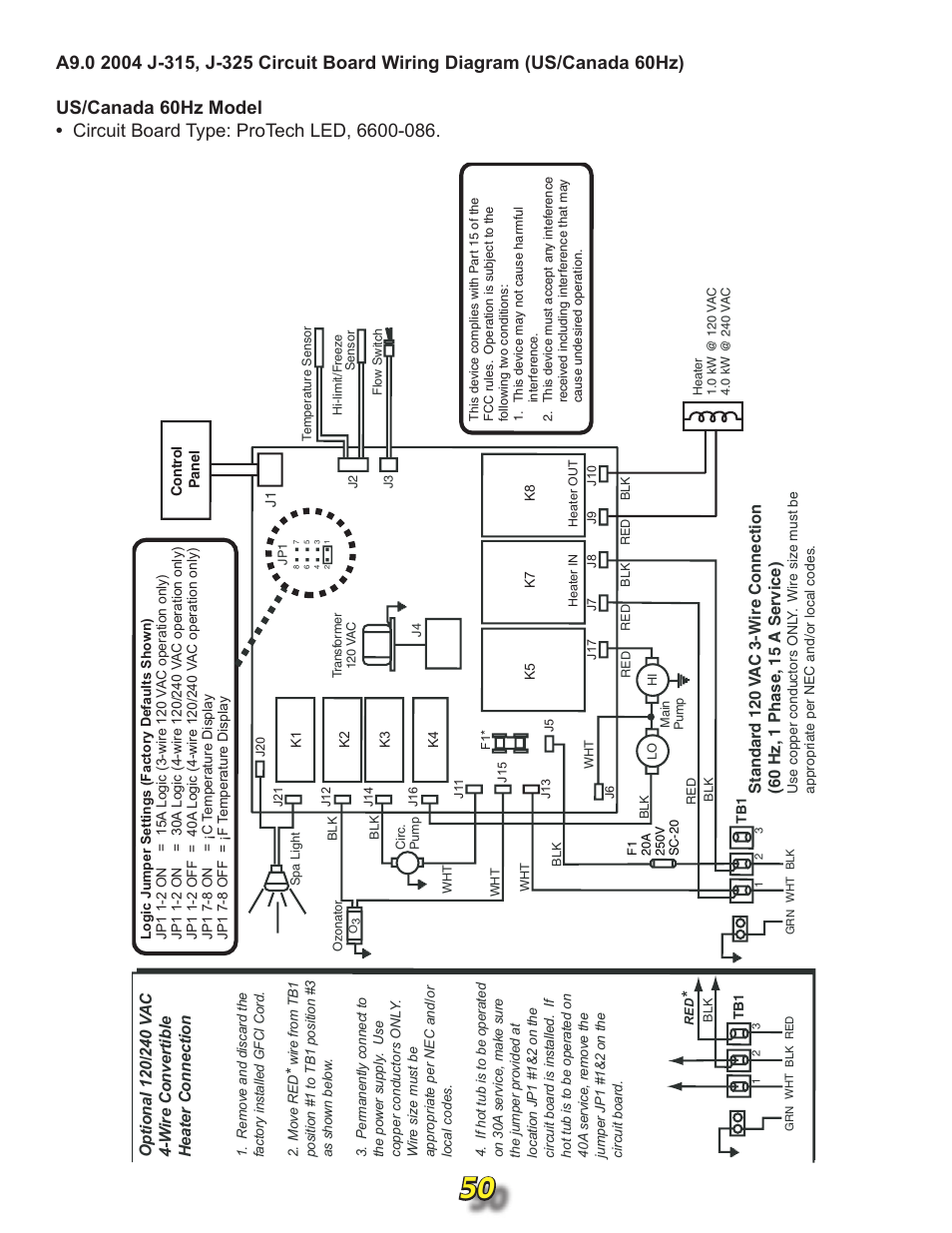 Jacuzzi J315 User Manual Page 50 62 Also For J 345 Hot Tub Wiring Diagram Together With Controller