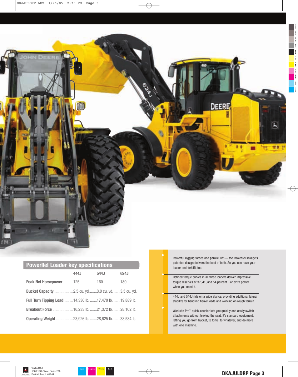 Dkajuldrp_3_lr, Powerllel loader key specifications, Dkajuldrp page 3 | John  Deere 444J User Manual | Page 3 / 28