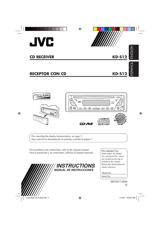 Jvc Kd S12 Owners Manual Avx77 Wiring Diagram User 34 Pages Rh Manualsdir Com Car Radio Sr40