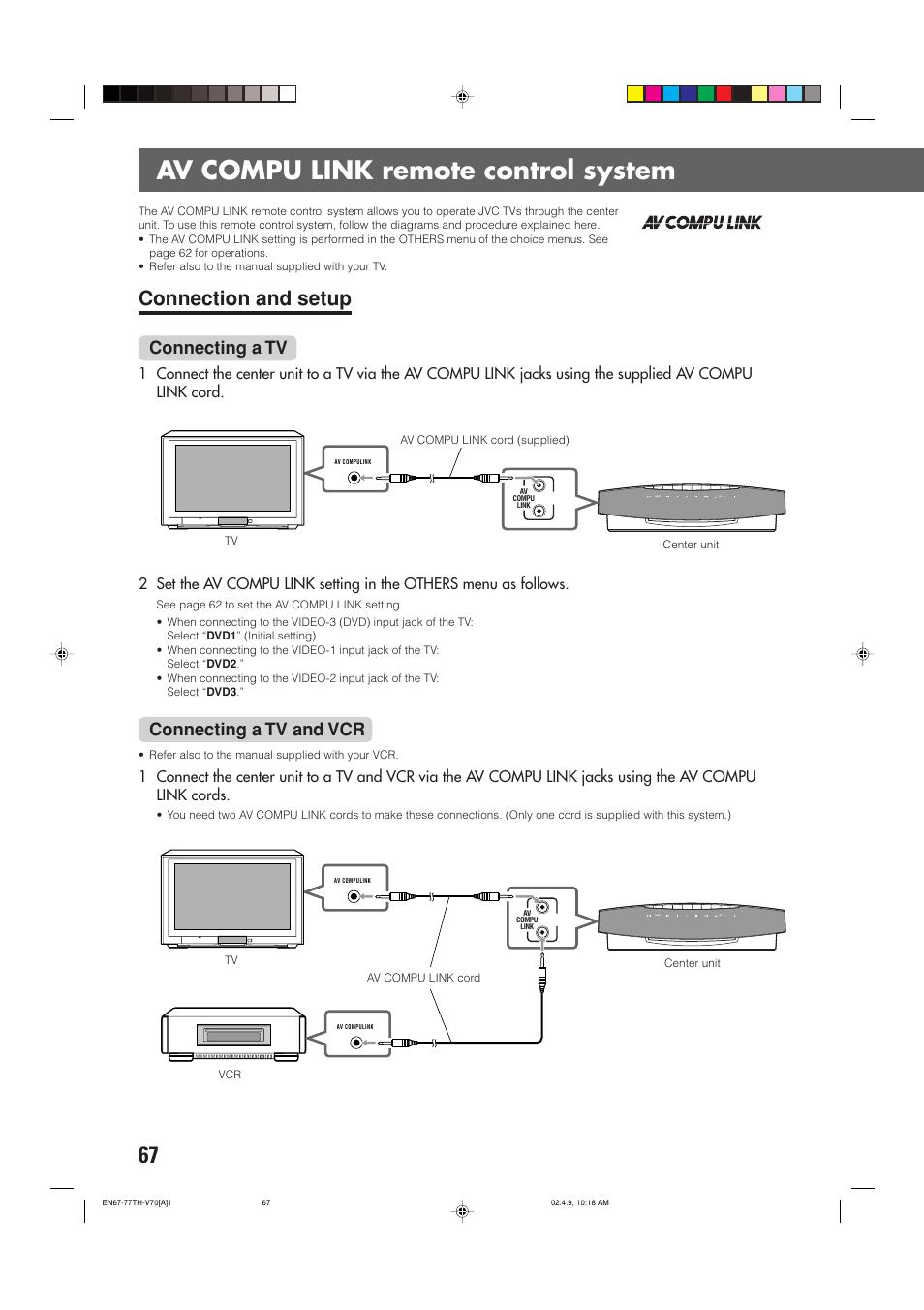 Av compu link remote cont.
